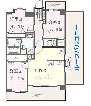 マンション(建物全部)-福岡市中央区今川1丁目 6F 3LDKタイプ