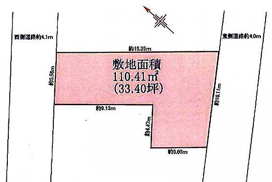 土地-豊島区目白5丁目 区画図