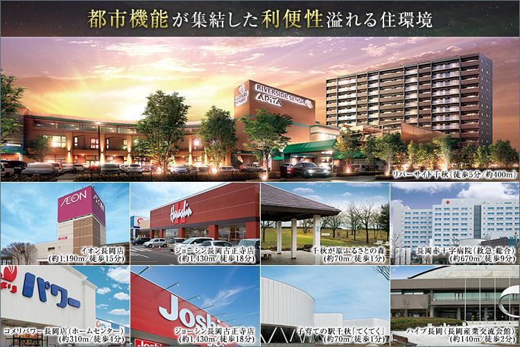 ■商業・医療・文化施設など多彩な生活利便施設や都市機能が集積。