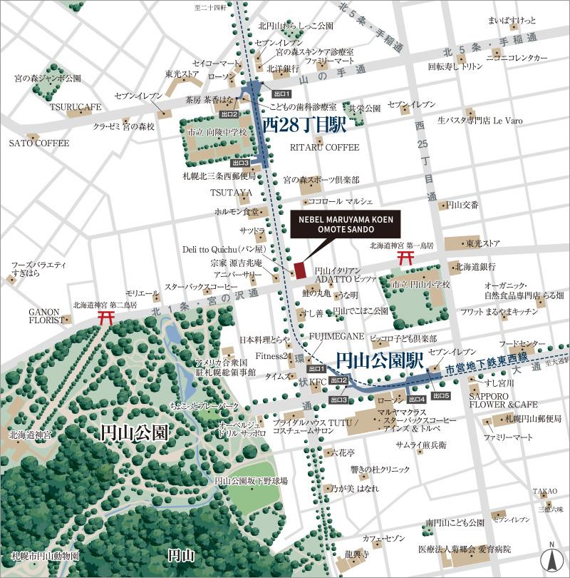 ネベル円山公園表参道:案内図