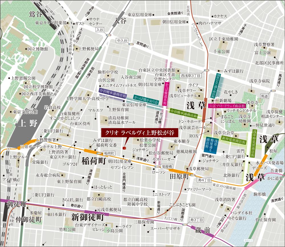 クリオ ラベルヴィ上野松が谷:案内図