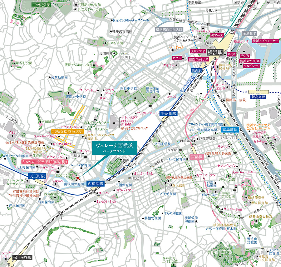 ヴェレーナ西横浜 パークフロント:案内図