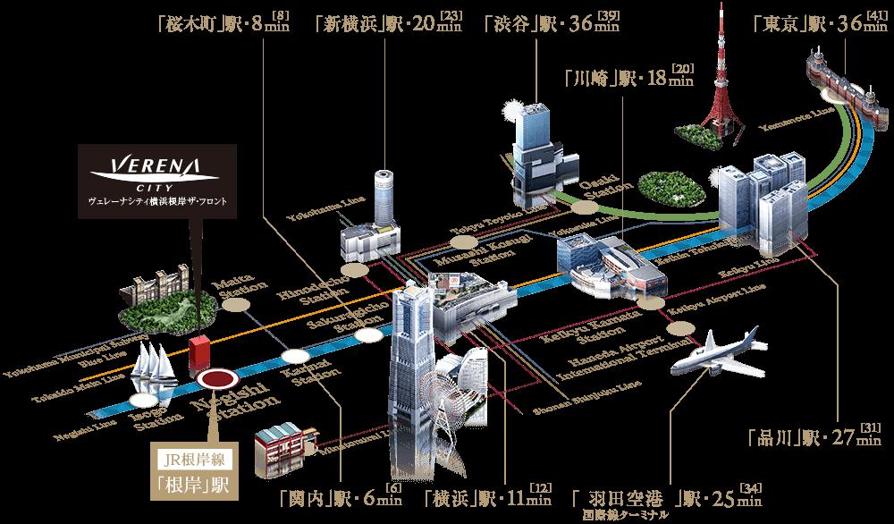ヴェレーナシティ横浜根岸ザ・フロント:交通図