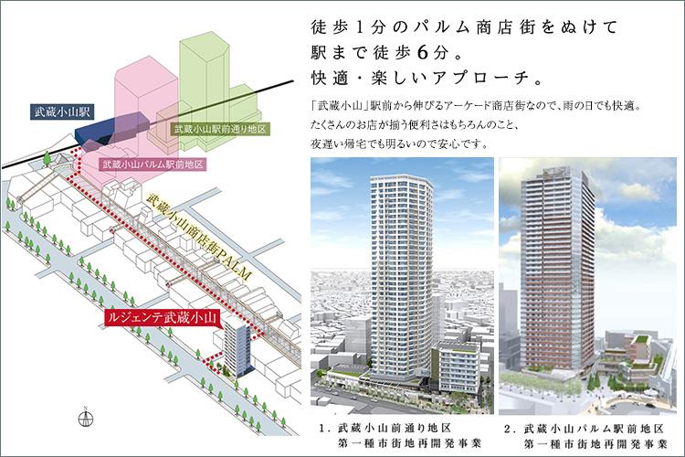 「武蔵小山」駅前で3つの再開発事業が進行中。品川区の西の玄関口として、大きく変貌する注目のエリア。