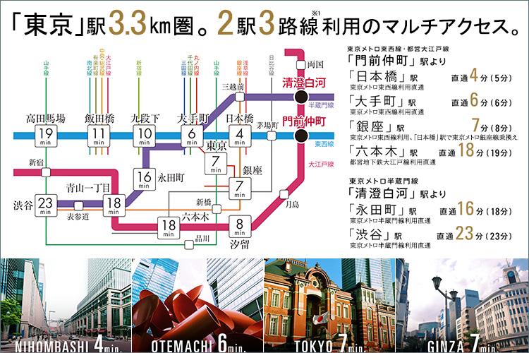 ■東京の多彩な魅力へ自在に繋がるポテンシャル。