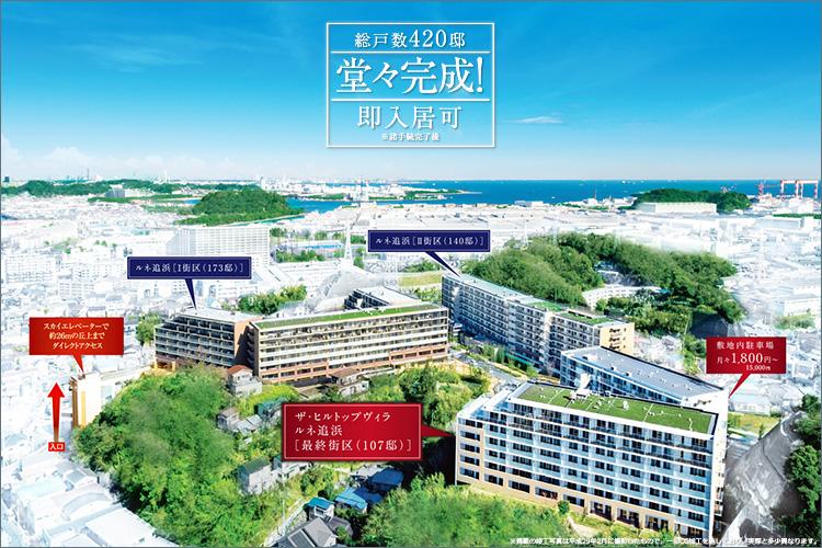 ●総計画420邸のビッグプロジェクト 堂々完成!