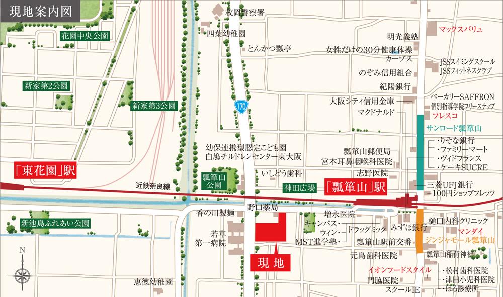 レ・ジェイド シティ瓢箪山:案内図