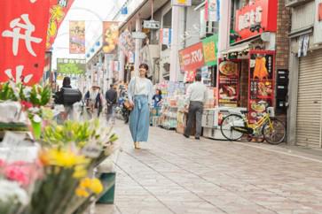 横浜橋商店街  約210m(3分)