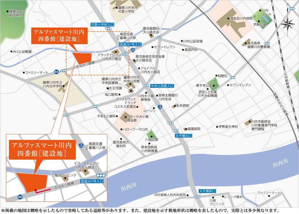 アルファスマート川内四番館:案内図