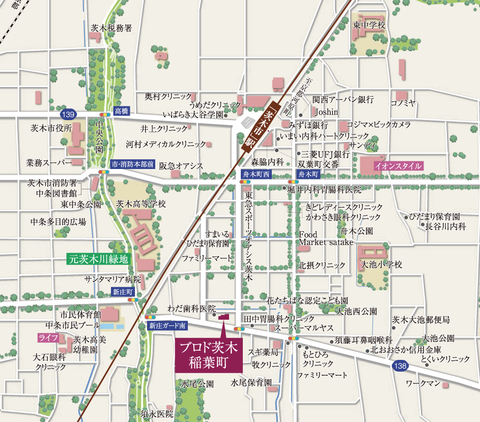 ブロド茨木稲葉町:案内図