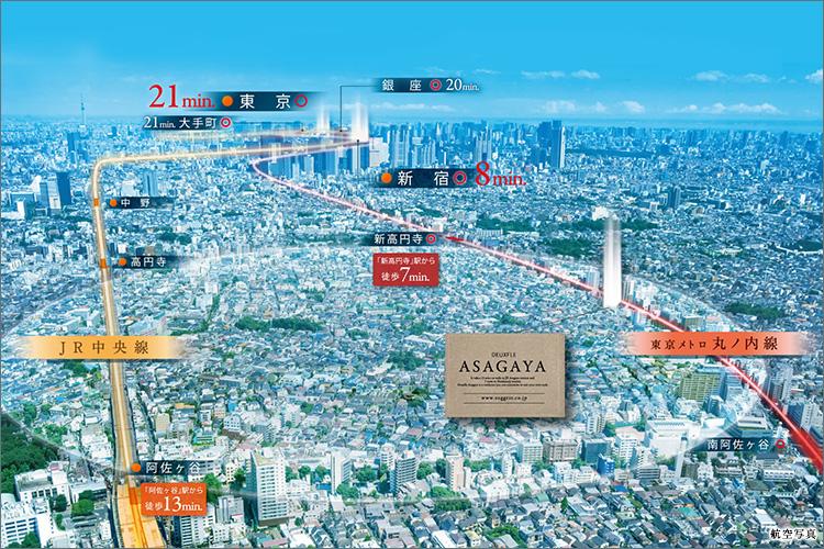 ■都心へスマートアクセス可能な丸ノ内線・中央線利用