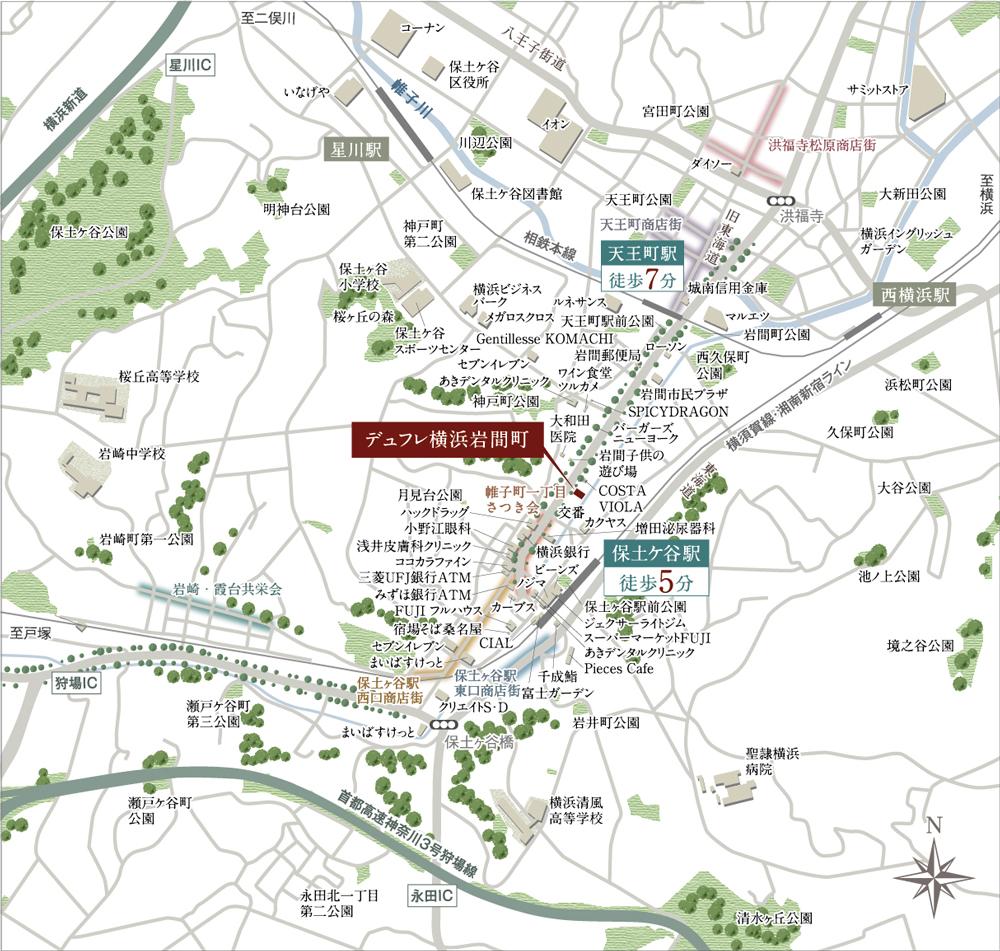デュフレ横浜岩間町:案内図