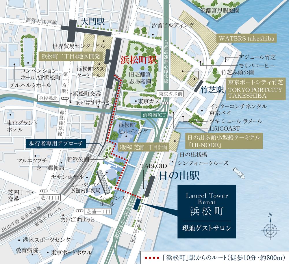 ローレルタワー ルネ浜松町:モデルルーム地図