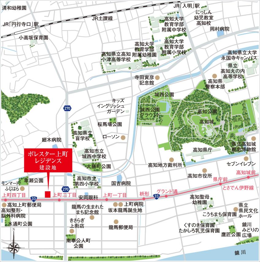 ポレスター上町レジデンス:案内図