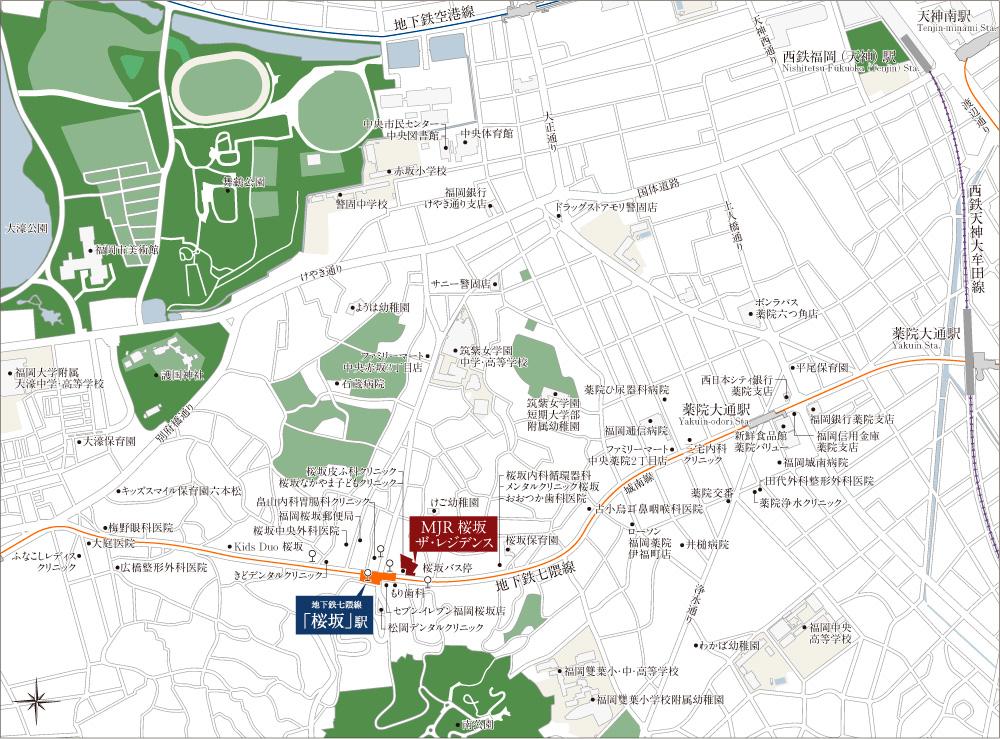 MJR桜坂ザ・レジデンス:案内図