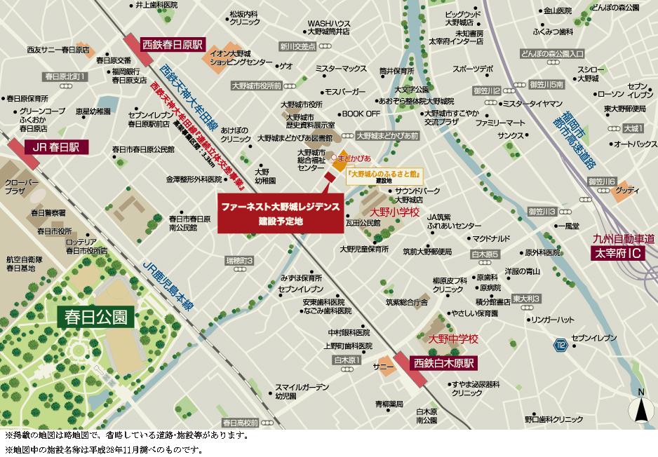 ファーネスト大野城レジデンス:案内図