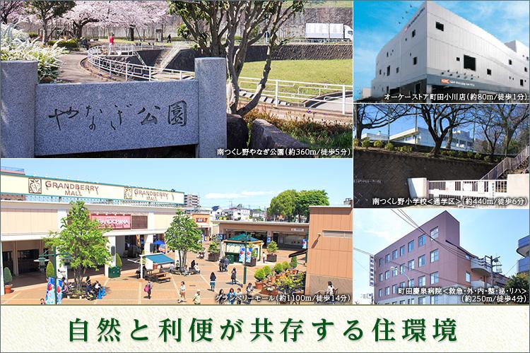 ■スーパー・小中学校・公園・病院が徒歩6分内に揃う、暮らしやすい住環境