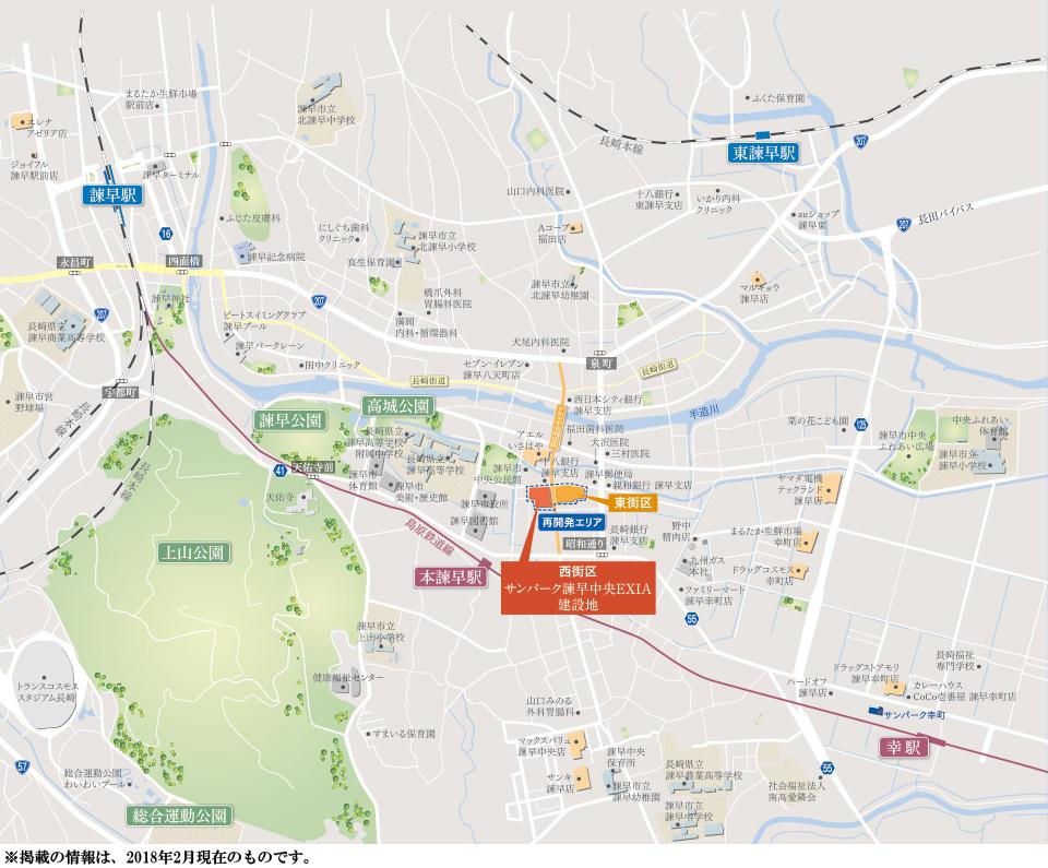 サンパーク諫早中央EXIA:案内図