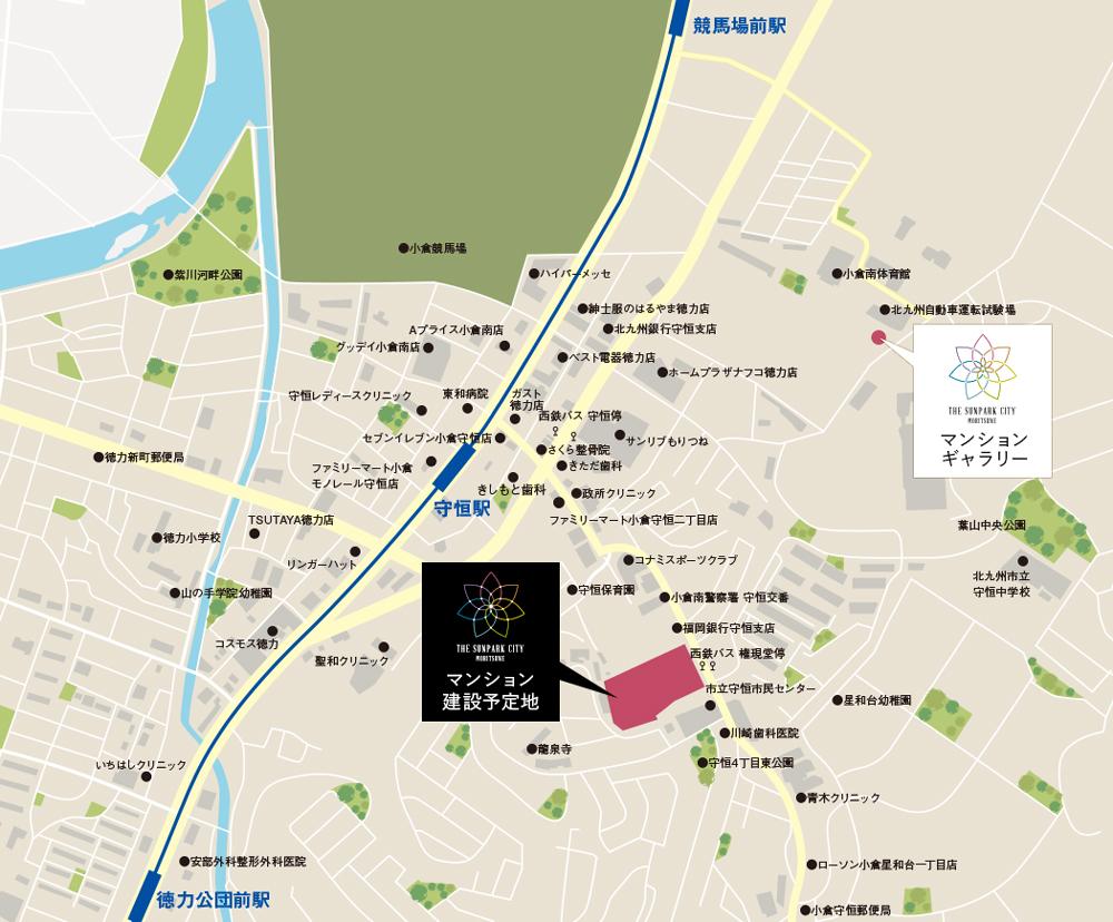 ザ・サンパークシティ守恒:モデルルーム地図