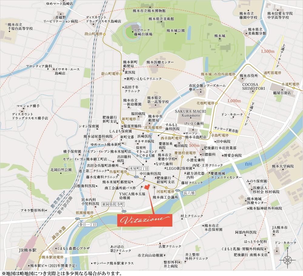 サンパーク桜町南ヴィータジオーネ:案内図