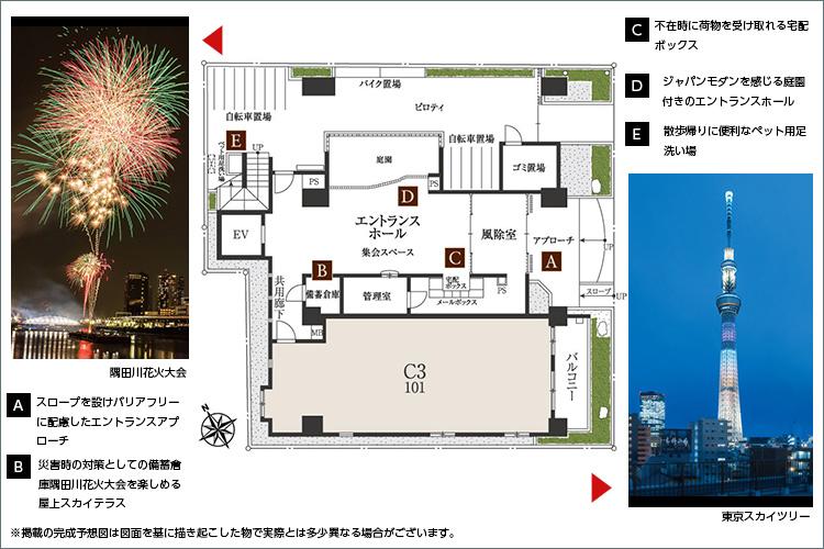 先進文化の「東京スカイツリー」と江戸風情を息づかせる「隅田川」