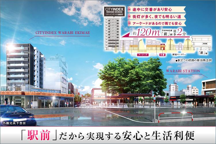 ■都心の主要駅を30分圏内におさめる「蕨」駅