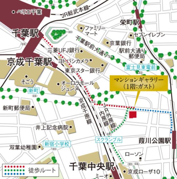 シティインデックス千葉ステーションフィールド:モデルルーム地図
