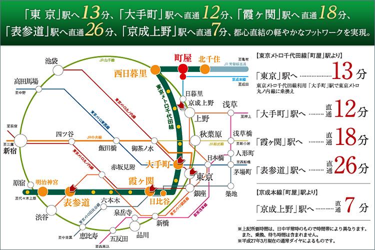 ■東京メトロ千代田線で広がる快適アクセス。