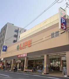 ライフ 西大橋店 約490m(徒歩7分)