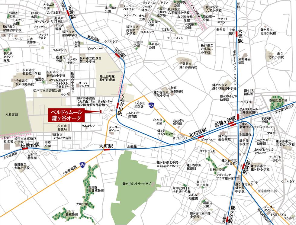 ベルドゥムール鎌ヶ谷オーク:案内図