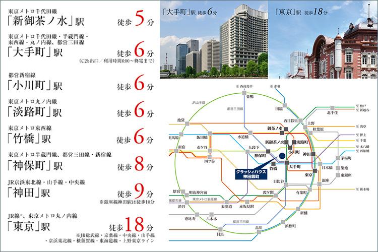 すべての東京が愉しめる、充実のアクセスと華やかな環境。