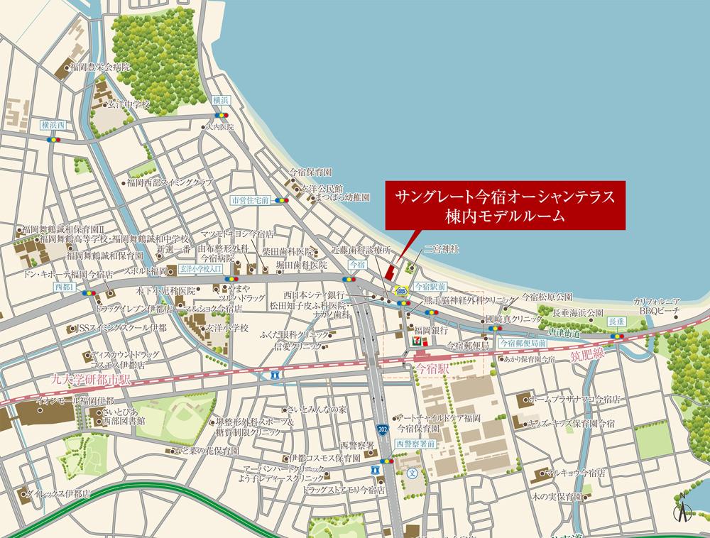 サングレート今宿オーシャンテラス:モデルルーム地図