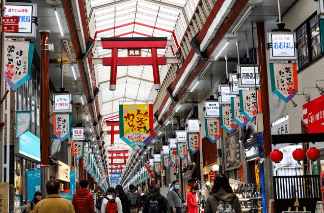 天神橋筋商店街 約600m(徒歩8分)