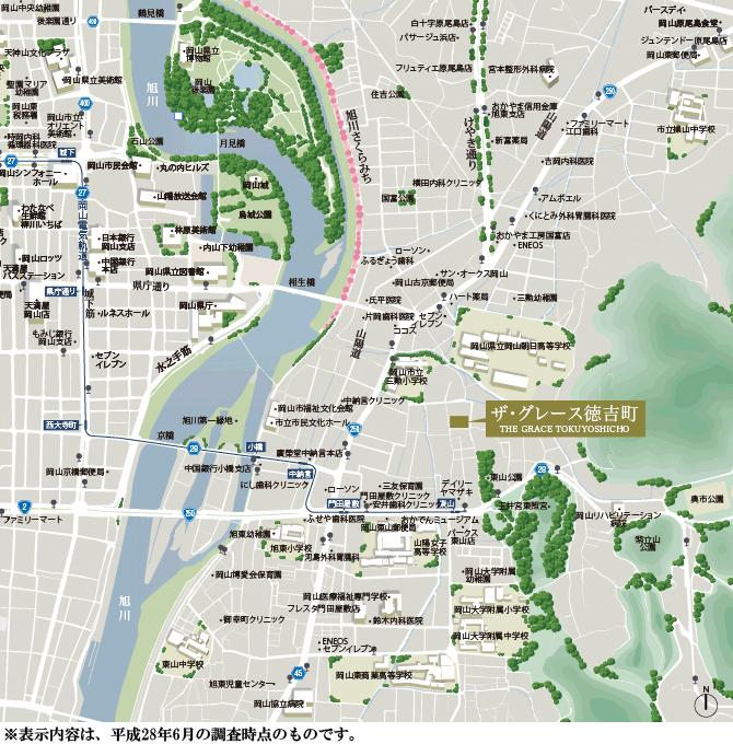ザ・グレース徳吉町:案内図