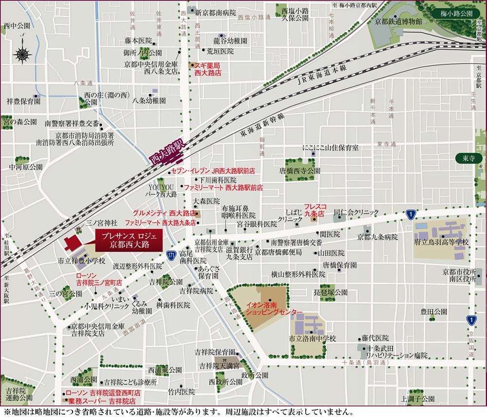 プレサンス ロジェ 京都西大路:案内図