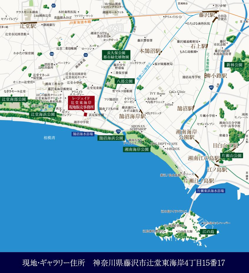 レ・ジェイド 辻堂東海岸 SEA-SIDE VILLA:モデルルーム地図