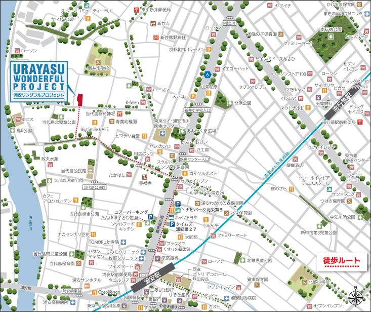 浦安ワンダフルプロジェクト:案内図