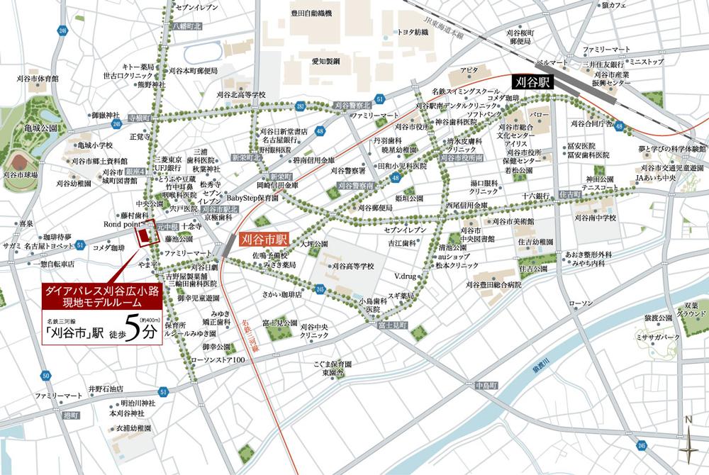 ダイアパレス刈谷広小路:案内図