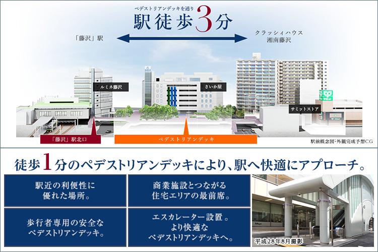 駅を中心に大規模商業施設が集積。医療機関や行政機関、文化施設も身近に。