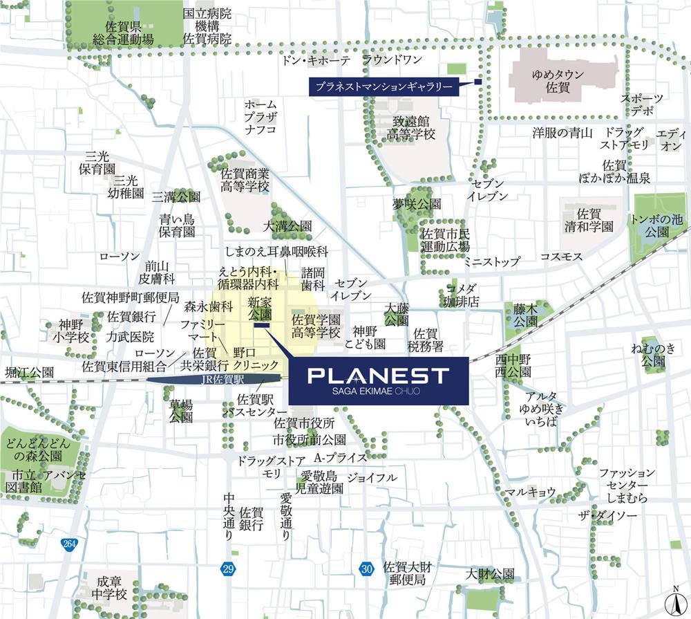 プラネスト佐賀駅前中央:案内図
