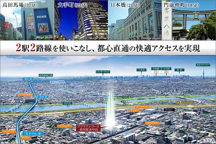 ■都心直通。東京の華やぎも、安らぎもその手に。
