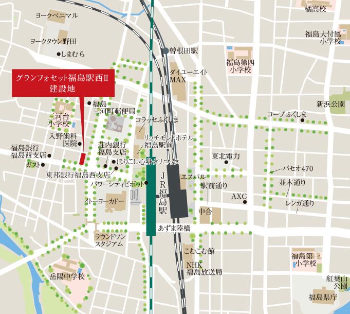グランフォセット福島駅西II:案内図