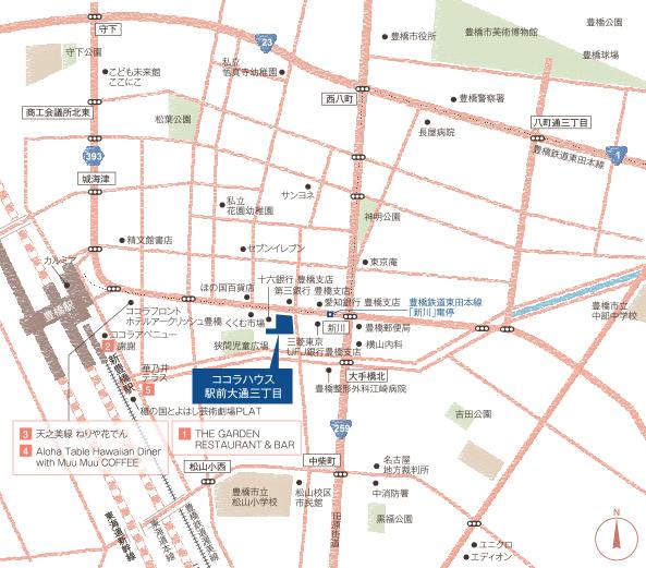 ココラハウス駅前大通三丁目:案内図