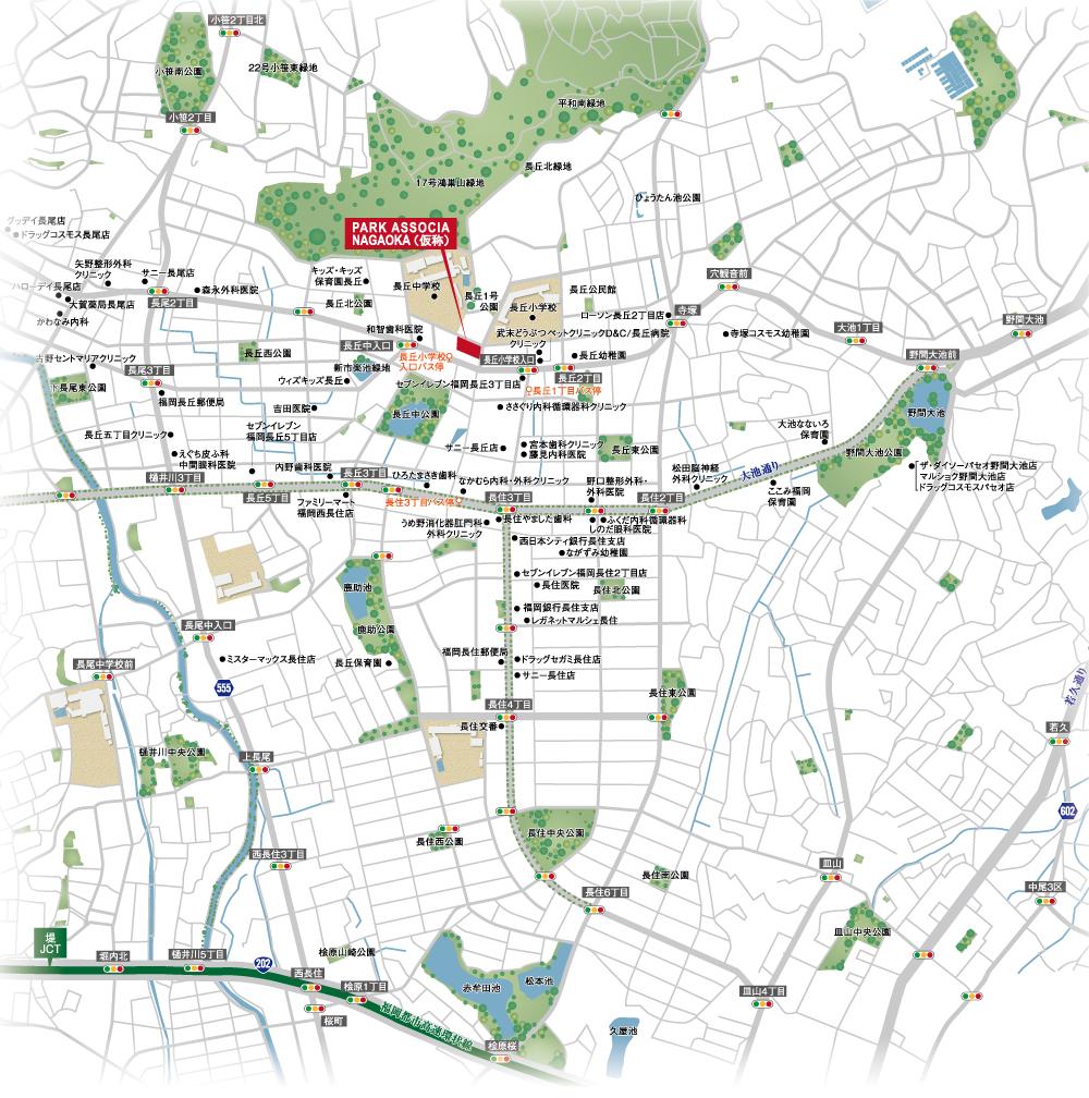 パークアソシア長丘翠景:案内図