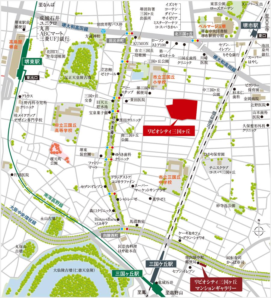 リビオシティ三国ヶ丘:案内図