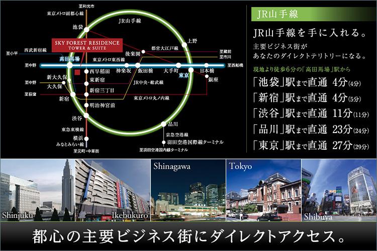 ■東京都全体のわずか3%となるJR山手線内側(※1)、新宿エリアに住まう。