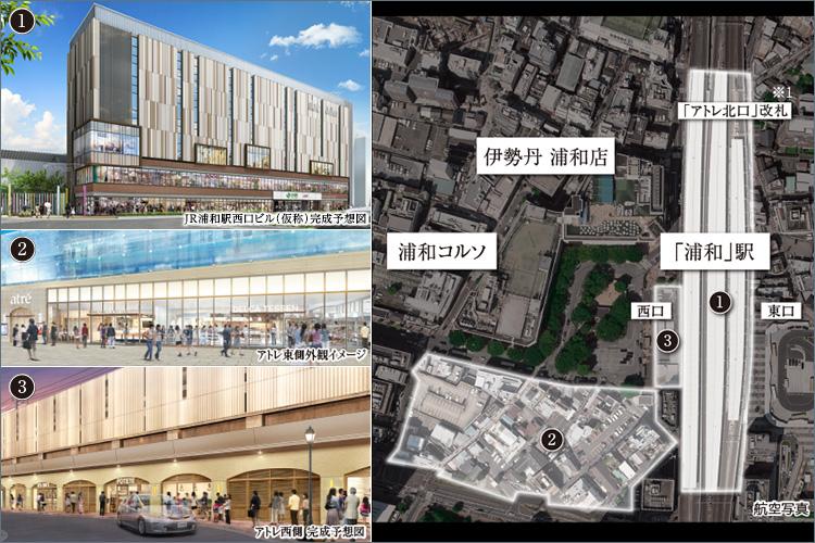 【再開発による整備されてきたJR「浦和」駅周辺】