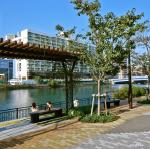 水辺空間を整備した街 約10m(徒歩1分)