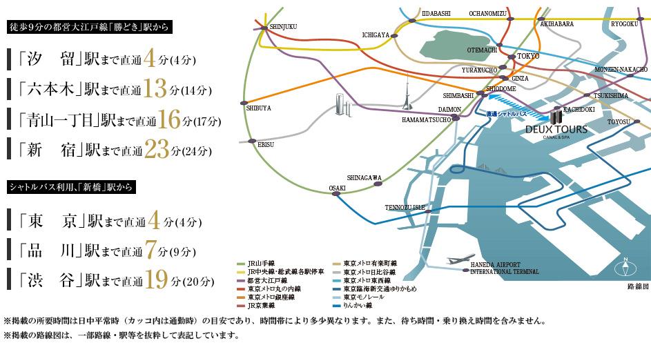 DEUX TOURS(ドゥ・トゥール):交通図