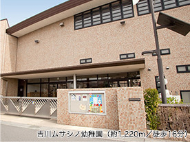 吉川ムサシノ幼稚園 約1,220m(徒歩16分)